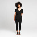 Black Wrap Top | Ethical & Sustainable Fashion | ECO.MONO | Australia | Melbourne