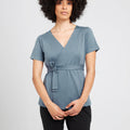 Blue Mist Wrap Top | Ethical & Sustainable Fashion | ECO.MONO | Australia | Melbourne