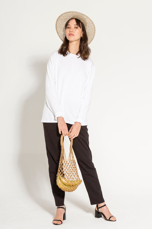 Kowtow White Boyfriend Top Front | 100% Organic Cotton | Ethical Clothing