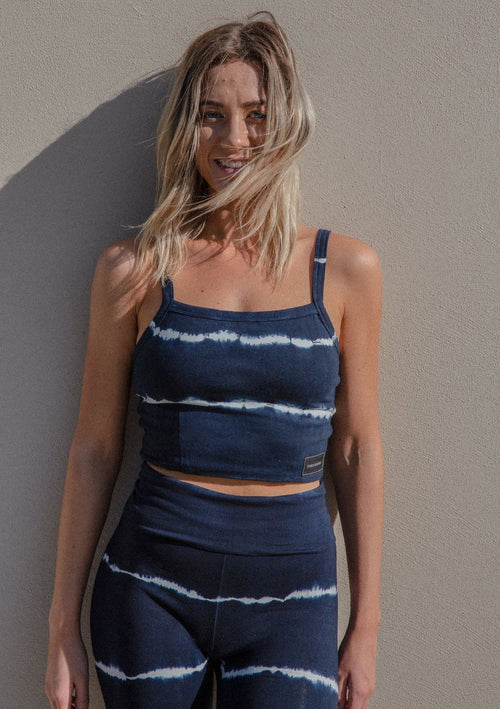 Joy Crop Organic Cotton - Indigo Stripe | Pinky & Kamal | Ethical Yoga