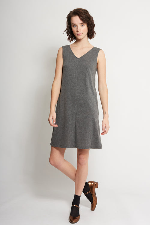 Charcoal Marle Shift Dress | Ethical & Sustainable Fashion | ECO.MONO