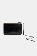 Coin Purse - Black Patent Washable Paper | Vegan Ethical Bags & Purses