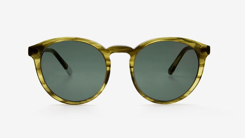 DARYA Khaki Striped Tortoiseshell | Ethical & Sustainable Sunglasses Australia |  ECOMONO