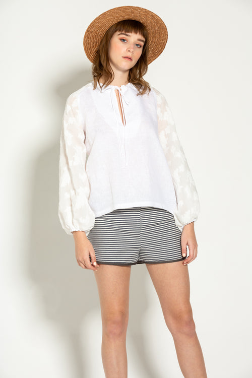Leva White Summer Blouse