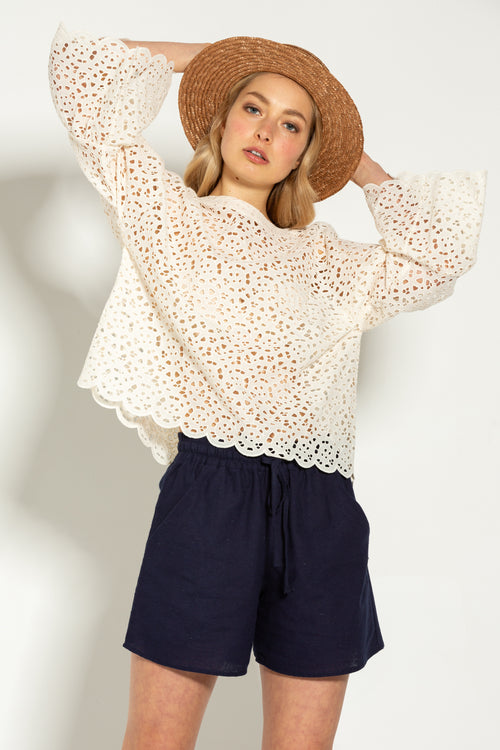 Ruffle Lover Cream Top