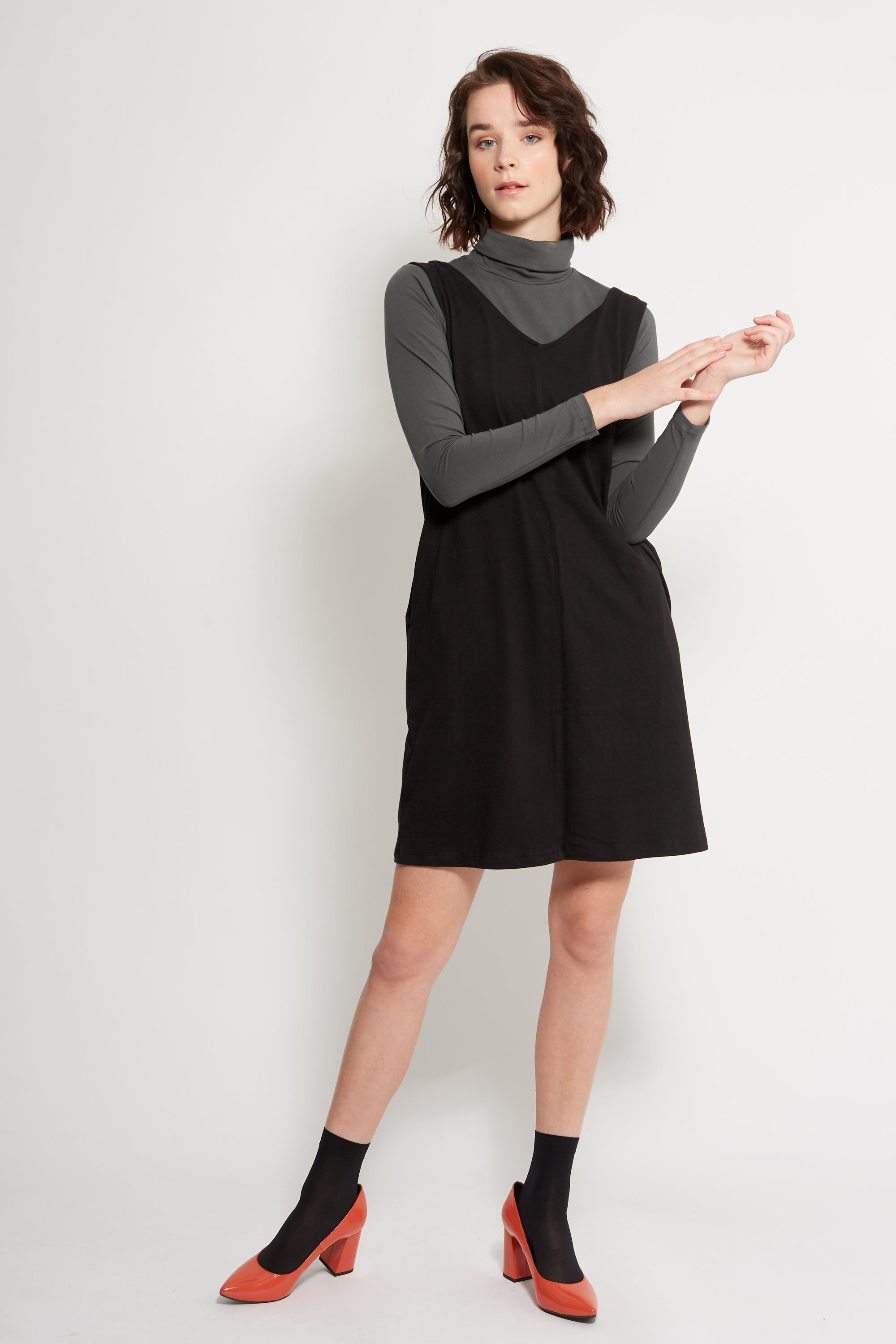 Dorsu | Ethical Clothing Australia | Shift Dress Grey | ECO.MONO