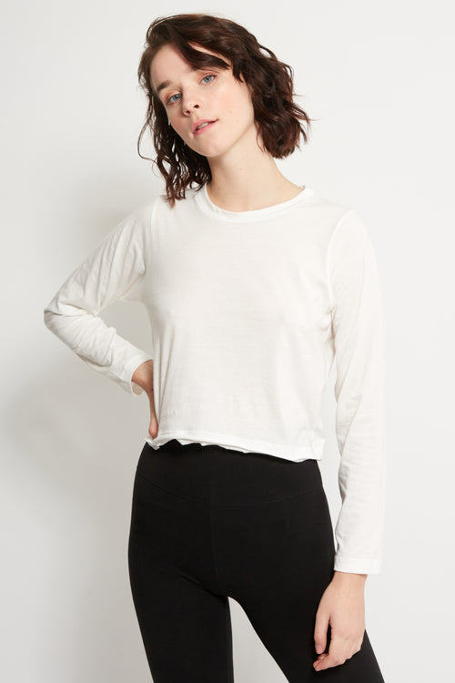 Long Sleeve Crop Top | Ethical Activewear | Organic Cotton | ECO.MONO