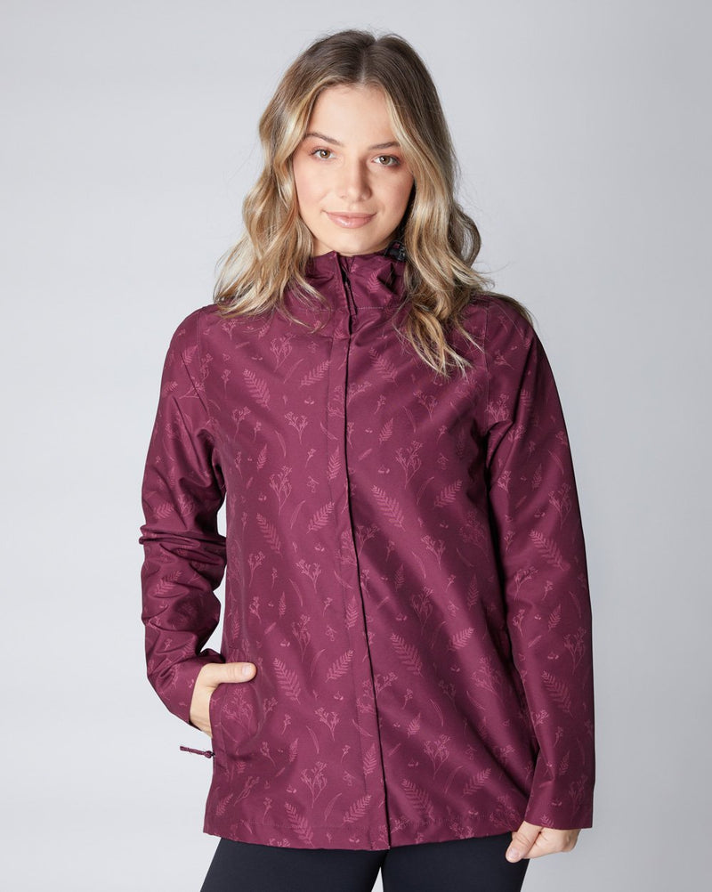 Elements Waterproof Jacket - Botanical | Ethical Winter Jackets Australia