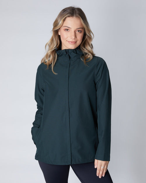 Elements Waterproof Jacket - Eucalyptus | Ethical Winter Coats Australia