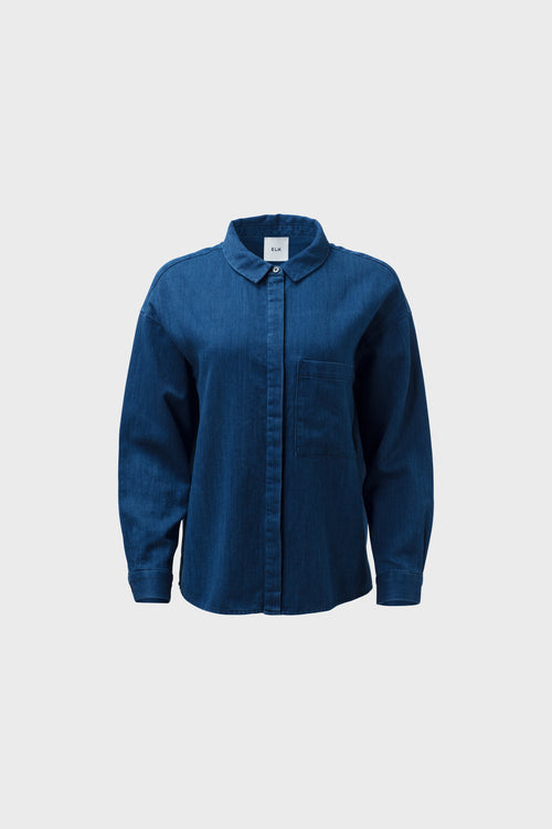 Karrie Shirt Indigo Denim Front | Elk The Label | Ethical Fashion Australia