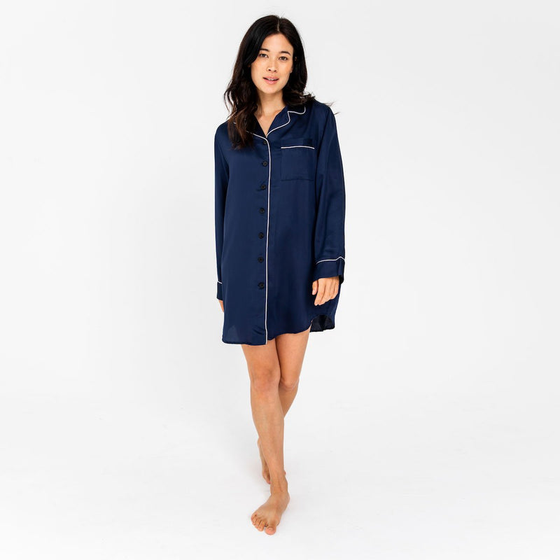 Bamboo Lyocell Sleep Shirt | Ethical & Sustainable Sleepwear Australia | ettitude | ECO.MONO | Melbourne