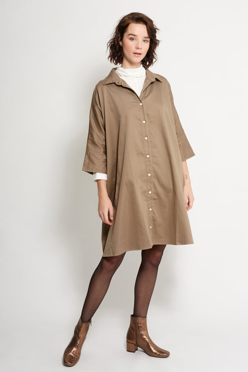 Flare Shirtdress Organic Cotton | Ethical & Sustainable Fashion Australia | ECO.MONO | Melbourne