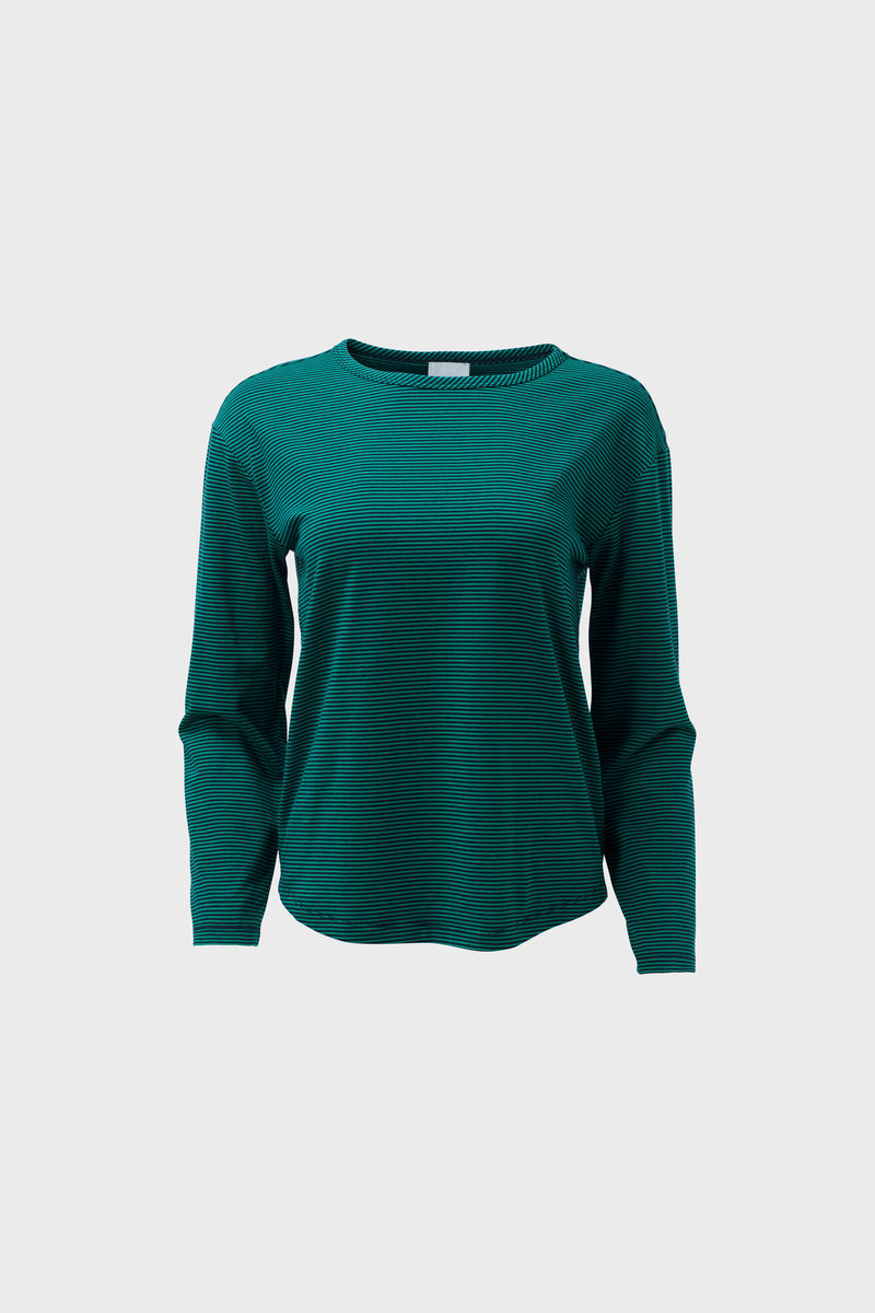Halina Top Pine Green | Elk Clothing | Long Sleeve Winter Top