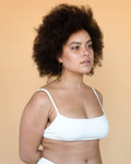 Hara The Label Ivory Leo High Cut Bra | Sustainable Bamboo Underwear