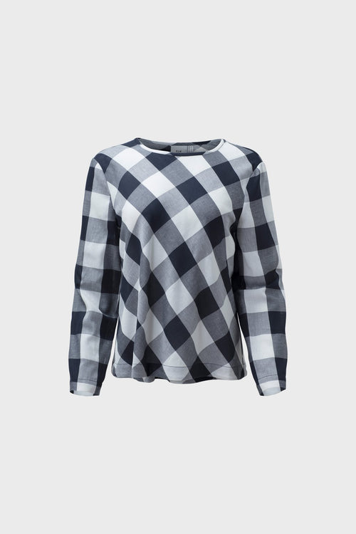 Isa Top - Ink Check | Elk Clothing | Ethical Fair Trade Fashion