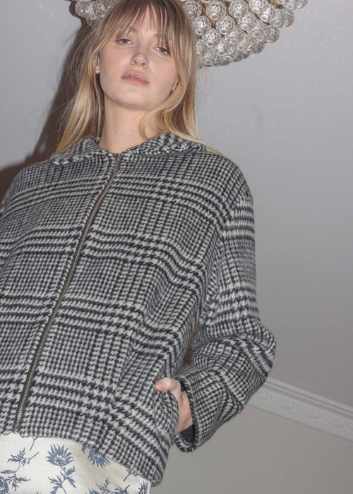 Houndstooth Cocoon Jacket | Permanent Vacation | Ethically Made Jacket