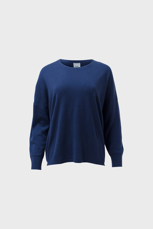 Katalin Sweater Oyster Blue | Elk The Label | Merino Wool Sweater