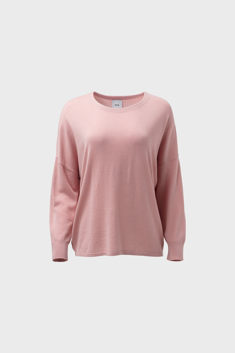 Katalin Sweater Rose Pink | Elk Clothing | Long Sleeve Winter Sweater