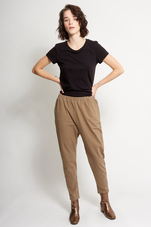 Khaki 100% Cotton joggers | Ethical & Sustainable Fashion Australia | Melbourne