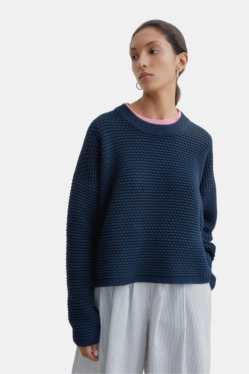 Kowtow Bubble Crew Navy | Organic Cotton | Winter Jumper | Eco Friendly