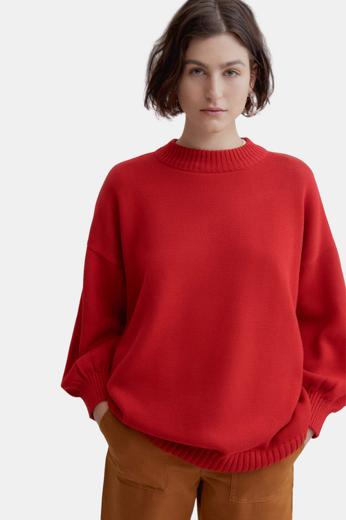 Kowtow Arc Jumper Red | Organic Cotton | Winter Jumper | Eco Friendly