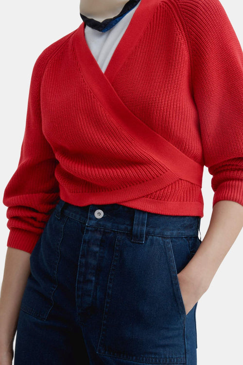 Kowtow Composure Cardigan Red