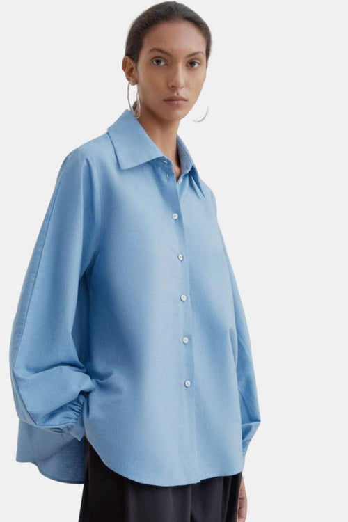 Kowtow Lens Shirt Sky Chambray | Organic Cotton | Women's Shirt