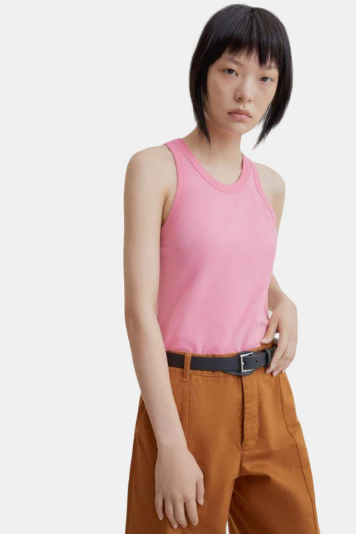 Kowtow Racer Back Singlet Pink | Organic Cotton | Ethical Tank Top