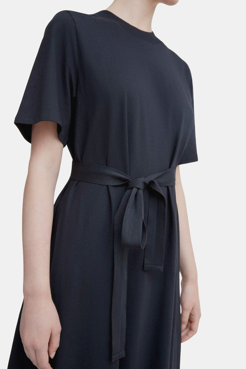 Kowtow Tee Shirt Swing Dress Black | Organic Cotton | Ethical Dress