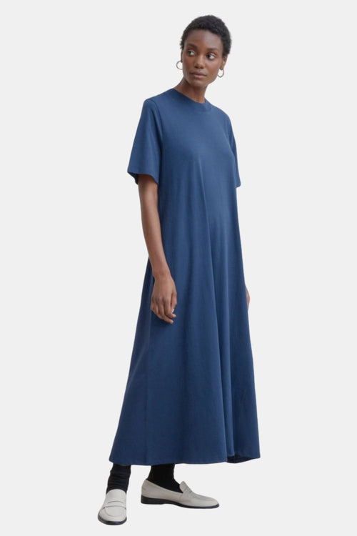 Kowtow Tee Shirt Swing Dress Navy | Organic Cotton | Ethical Dress