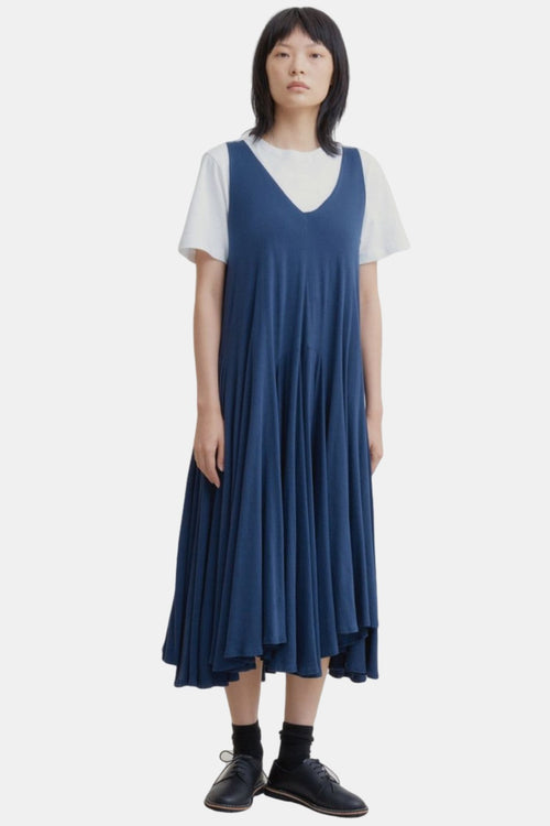 Kowtow Volume Dress Navy | Organic Cotton | Ethical Dresses