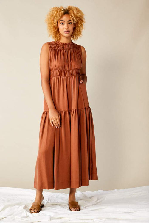Scrunch Dress Terracotta | Lois Hazel | Made In Australia