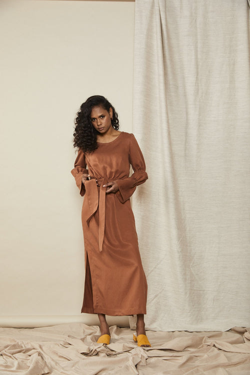 Contain Dress Terracotta | Lois Hazel | Made In Australia | Fair Trade