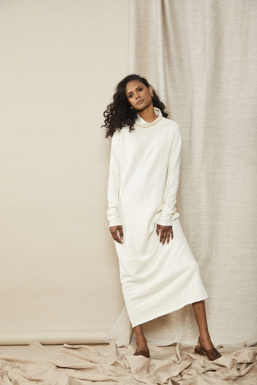 Contain Jumper Dress Cream | Lois Hazel | Made in Melbourne