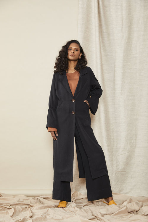 Scrunch Trench Black | Lois Hazel | Made in Australia