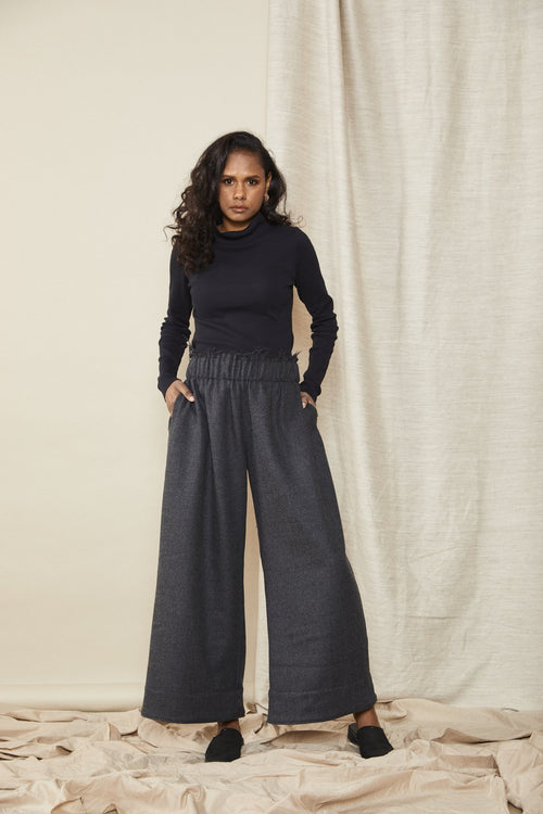 Scrunch Pant Charcoal | Lois Hazel | Made in Australia