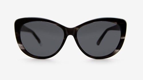 MAKENA Black Stripe Acetate | Ethical & Sustainable Sunglasses Australia