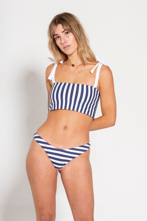 Navy & White Stripe Bikini Set