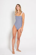 Navy & White Stripe Swimsuit