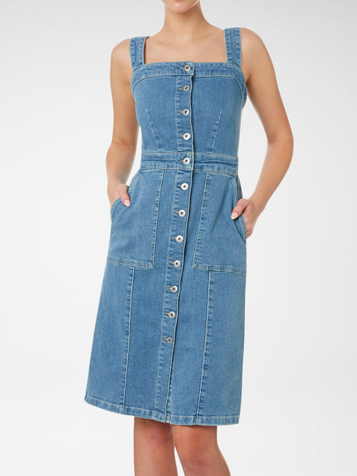 Charlotte Long Line Denim Dress | Outland Denim | Ethical Premium Denim