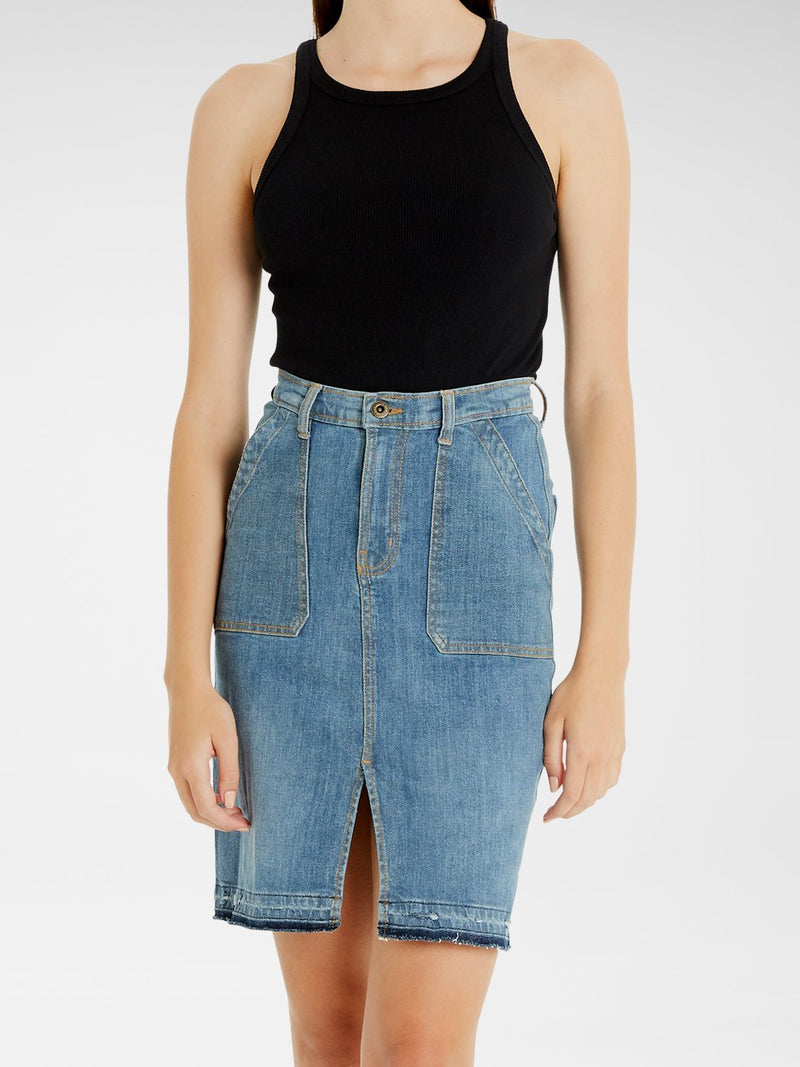 Evie Straight-line skirt | Outland Denim | Ethical Premium Denim