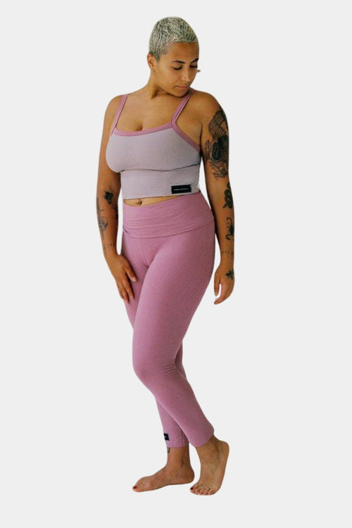 Organic Cotton Benny Legging - Dusty Pink Front | Eco Friendly Activewear