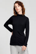 Theo The Label | Organic Cotton Black Bamboo Skivvy | Ethical & Sustainable Fashion
