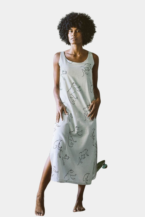 Organic Cotton Hemp Dahlia Pantha Dress | Ethical Dresses Australia | Sustainable Fashion Australia