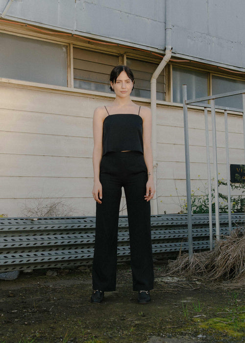 Loose Fit Pants Black | Permanent Vacation | Australia Made Black Pant