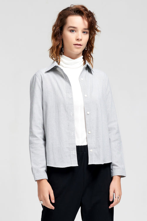Theo The Label | Pinstripe Shirt 100% Cotton | Ethical & Sustainable Fashion Australia