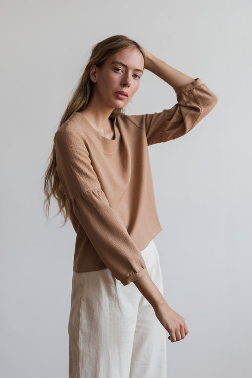 Si Ying Shirt Blush | Ricepaper The Label | Made in Melbourne