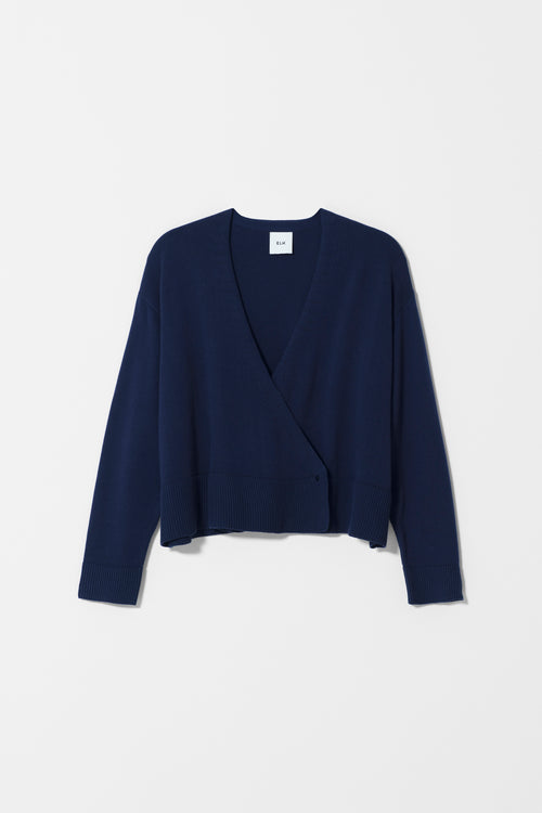 SEL CARDIGAN Navy | Ethical & Sustainable Fashion Australia | ECO.MONO | Melbourne | Spring Summer