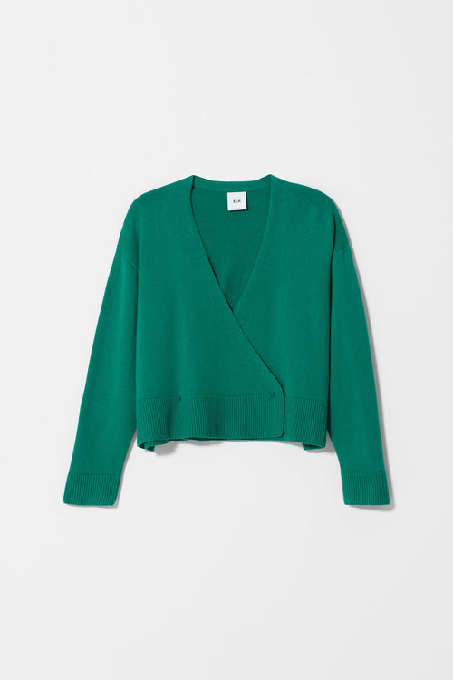 SEL CARDIGAN - Spinach | Elk Clothing | Ethical Winter Cardigans