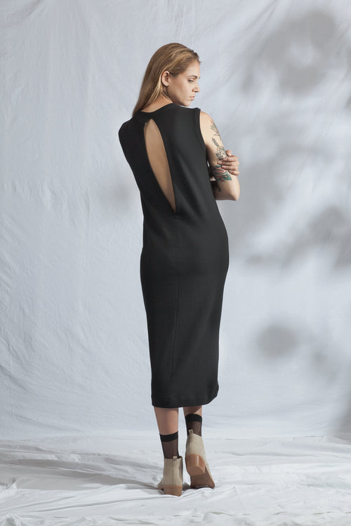 Pillar Dress Black | Ethical & Sustainable Fashion Australia | ECO.MONO | Organic Cotton | Melbourne